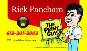Rick Pancham Sales Manager for theprintguy.ca, Flyer Specials, design, print, distribution, call The Print Guy 613-799-4367, door to door flyer delivery in Ottawa, direct mail, direct marketing, mailout, mail-out, Canada Post, post office